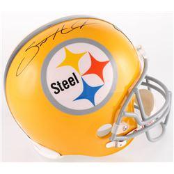 Santonio Holmes Signed Pittsburgh Steelers Full-Size Helmet (JSA COA  Holmes Hologram)