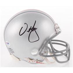 Urban Meyer Signed Ohio State Buckeyes Mini Helmet (PSA COA)