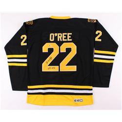 "Willie O'Ree Signed Boston Bruins Jersey Inscribed ""HOF 2018"" (Beckett COA)"
