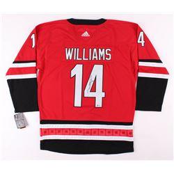 Justin Williams Signed Carolina Hurricanes Captain's Jersey (Beckett COA)