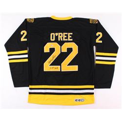 "Willie O'Ree Signed Boston Bruins Jersey Inscribed ""HOF 2018"" (Beckett COA)"
