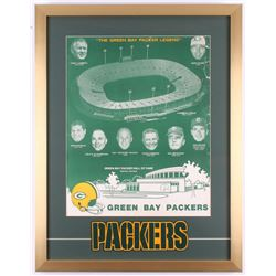 """The Green Bay Packer Legend"" HOF 21x27 Custom Framed Vintage Poster Display with Patch"