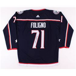 Nick Foligno Signed Columbus Blue Jackets Captain's Jersey (Beckett COA)