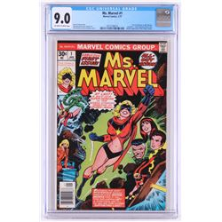 "1977 ""Ms. Marvel"" #1 Marvel Comic Book (CGC 9.0)"