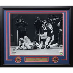 Lawrence Taylor Signed New York Giants 22x27 Custom Framed Photo Display (JSA COA)