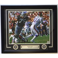 Howie Long Signed Oakland Raiders 22x27 Custom Framed Photo Display (PSA COA)