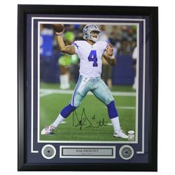 Dak Prescott Signed Dallas Cowboys 22x27 Custom Framed Photo Display (JSA COA)