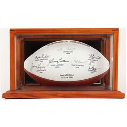 Notre Dame Fighting Irish Heisman Winners LE Logo Football Signed by (7) with Paul Hornung, Tim Brow