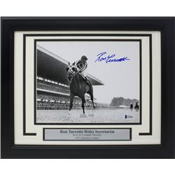 Ron Turcotte Signed 1973 Belmont Stakes 14x17 Custom Framed Photo Display (Beckett COA)