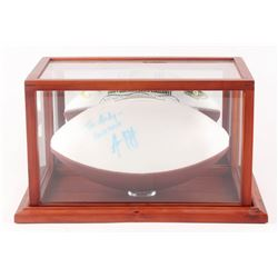 "Aaron Rodgers Signed 2004 California Bears Logo Football Inscribed ""Good Luck"" (JSA LOA)"