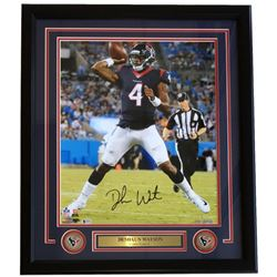Deshaun Watson Signed Houston Texans 22x27 Custom Framed Photo (Beckett COA  Watson Hologram)