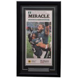Philadelphia Eagles 18x30 Custom Framed 2018 Super Bowl 52 Miracle Newspaper Page Display