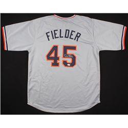 Cecil Fielder Signed Detroit Tigers Jersey (JSA COA)