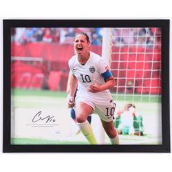 Carli Lloyd Signed Team USA 12x15 Custom Framed Cut Display (JSA COA)