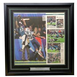 Philadelphia Eagles 18x30 Custom Framed 2018 Super Bowl 52 Newspaper Page Display