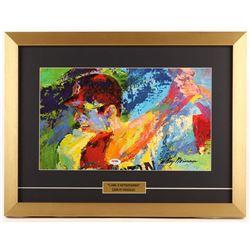 "Carl Yastrzemski Signed ""LeRoy Neiman"" 16x21 Custom Framed Print Inscribed ""HOF 89"" (PSA COA)"