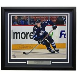 Patrik Laine Signed Winnipeg Jets 22x27 Custom Framed Photo Display (Fanatics Hologram)