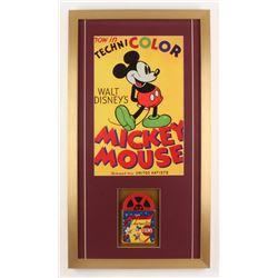 "Walt Disney's ""Mickey Mouse"" 17x31 Custom Framed Vintage Film Reel Display"