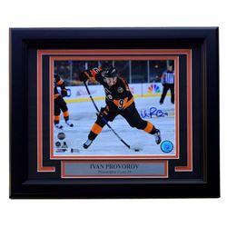 Ivan Provorov Signed Philadelphia Flyers 11x14 Custom Framed Photo Display (Beckett COA)