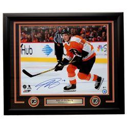 Nolan Patrick Signed Philadelphia Flyers 22x27 Custom Framed Photo Display (Beckett COA)