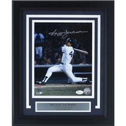 Reggie Jackson Signed New York Yankees 11x14 Custom Framed Photo Display (JSA COA)