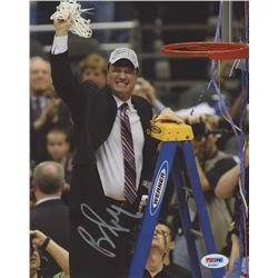 "Bill Self Signed ""Kansas Jayhawks Championship"" 8x10 Photo (PSA COA)"