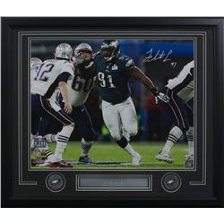 Fletcher Cox Signed Philadelphia Eagles 22x27 Custom Framed Photo Display (Fanatics Hologram)
