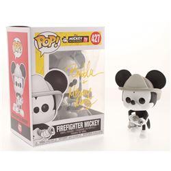 "Bret Iwan Signed  Inscribed Mickey Mouse ""Firefighter Mickey"" Disney #427 Funko Pop! Vinyl Figure (J"