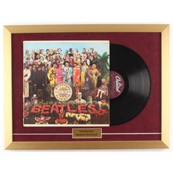 """The Beatles """"Sgt Pepper's Lonely Hearts"""" 18x24 Custom Framed Vinyl Record Display"""