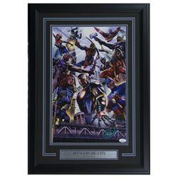 """Greg Horn Signed Marvel """"Avengers"""" 17x25 Custom Framed Lithograph Display (JSA COA)"""