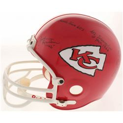 Johnny Robinson Signed Kansas City Chiefs Full-Size Helmet with (10) Career Highlight Stat Inscripti