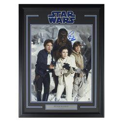 "Peter Mayhew Signed ""Star Wars: The Empire Strikes Back"" 22x30 Custom Framed Photo Inscribed ""Chewba"