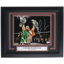 Conor McGregor Signed 13x16 Custom Framed Photo Display (Fanatics Hologram)