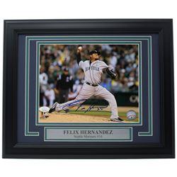 Felix Hernandez Signed Seattle Mariners 11x14 Custom Framed Photo Display (JSA COA)