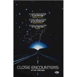 """Steven Spielberg  Signed """"Close Encounters of the Third Kind"""" 12x18 Movie Poster Photo (Beckett COA)"""