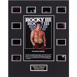 """""""Rocky III"""" LE 8x10 Custom Matted Original Film / Movie Cell Display"""