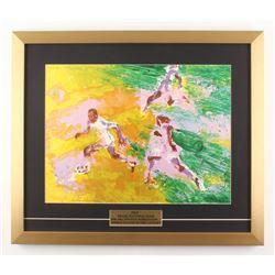 "LeRoy Neiman ""Pele"" 19.5x23 Custom Framed Print Display"
