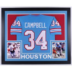 Earl Campbell Signed Houston Oilers 35x43 Custom Framed Jersey (Fiterman Sports Hologram)