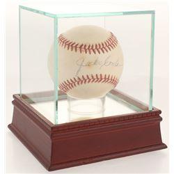 Jocko Conlan Signed ONL Baseball with Display Case (PSA LOA)