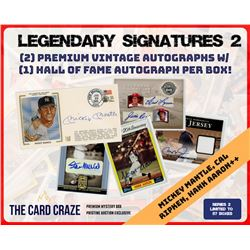 """The Card Craze """"Legendary Signatures"""" Series 2 Mystery Box Hall of Fame"""