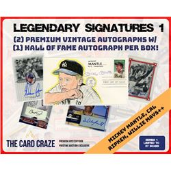 """The Card Craze """"Legendary Signatures"""" Series 1 Mystery Box Hall of Fame"""