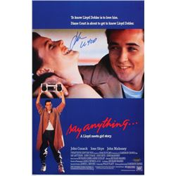 "John Cusack Signed ""Say Anything..."" 11x17 Photo Inscribed ""Llyod"" (Schwartz COA)"