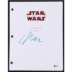 "Rian Johnson Signed ""Star Wars: The Last Jedi"" Movie Script (Beckett COA)"