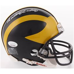 Anthony Carter Signed Michigan Wolverines Mini Helmet (JSA COA)