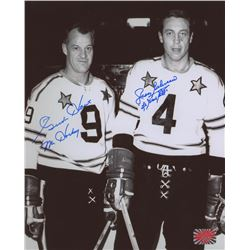 "Gordie Howe  Jean Beliveau Signed NHL All-Star Game 8x10 Photo Inscribed ""Mr. Hockey""  ""Le Gros Bill"