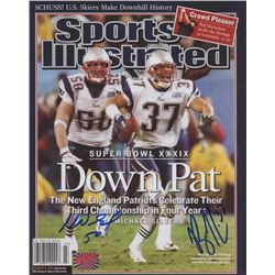 """Mike Vrabel  Rodney Harrison Signed New England Patriots """"Sports Illustrated"""" 8x10 Cover Photo (Your"""