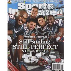 """Tedy Bruschi, Mike Vrabel,  Rosevelt Colvin Signed New England Patriots """"Sports Illustrated"""" 8x10 Co"""