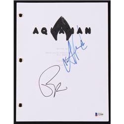 "Patrick Wilson  Amber Heard Signed ""Aquaman"" Movie Script (Beckett COA)"