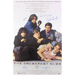 """The Breakfast Club"" 24x36 Movie Poster Cast-Signed by (5) with Judd Nelson, Molly Ringwald, Anthony"