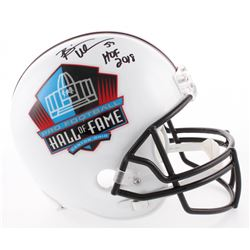 "Brian Urlacher Signed Pro Football Hall of Fame Commemorative Full-Size Helmet Inscribed ""HOF 2018"""